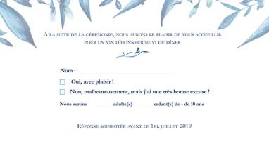 """Coupon Réponse """"Songe Bleuté"""""""