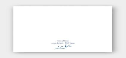 """Faire Part """"Songe Bleuté"""""""